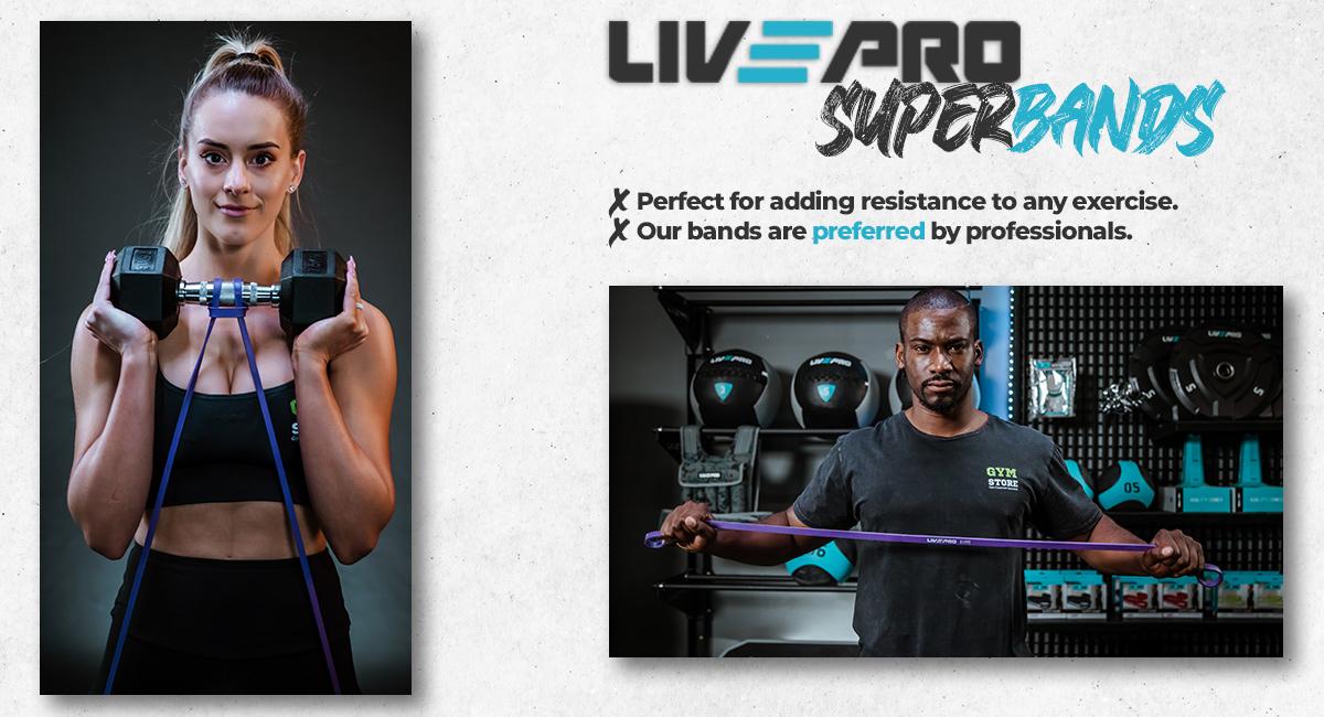 LivePro Resistance Bands Banner for Desc