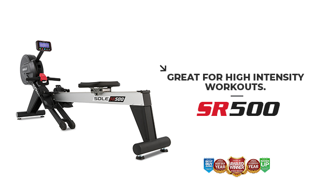 SR500 Sole Fitness Rower Product Banner