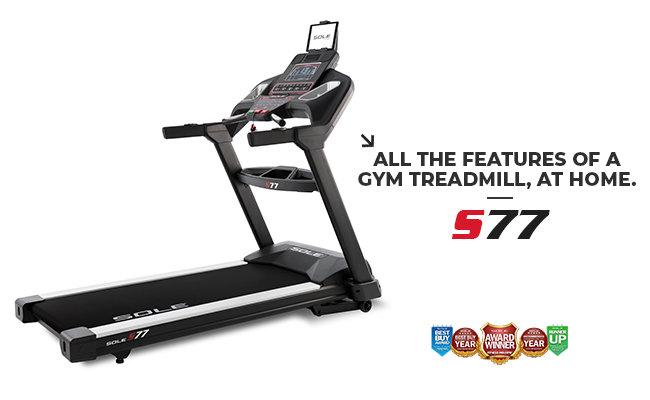Sole Fitness S77 Treadmill Foldable Home Use Smart Treadmill Product Image Banner