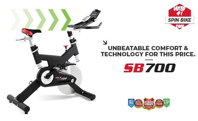 Sole Fitness SB700 Spin Bike Indoor Cycle Banner 1