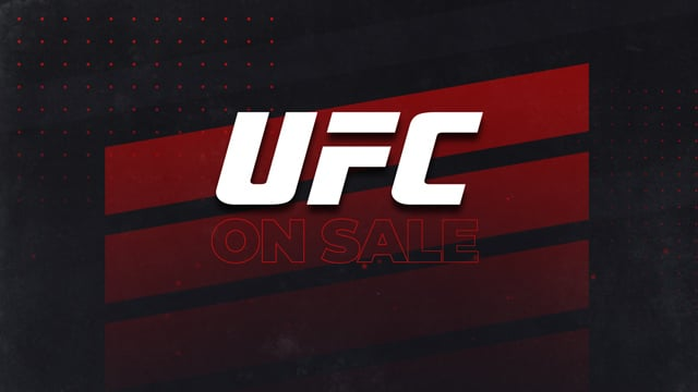UFC on sale banner for Menu