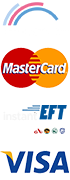Payment options for website footer